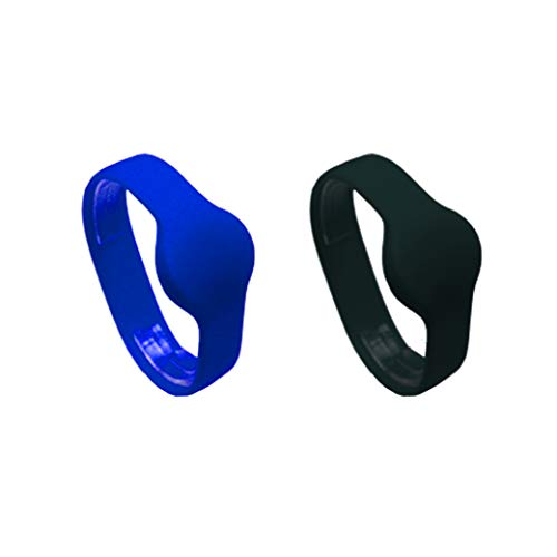 RFID Fitness - Pulsera de silicona para miembros de la marca Rubber HF 13,56 MHz, 2 unidades
