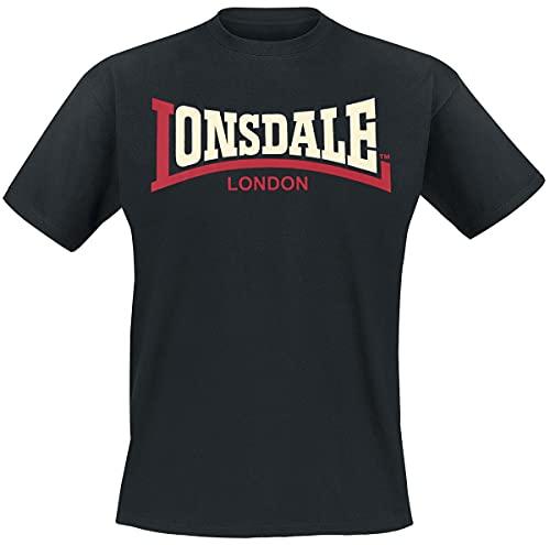 Lonsdale London Two Tone T-Shirt, Schwarz, 3XL Uomo