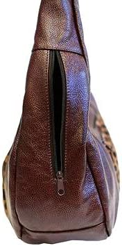 Fin Stores Womens Hobo Bag Genuine Mexican Leather Top Zip Bag