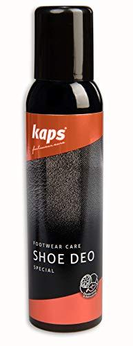 Kaps Schuh Deo Spray - Schuhdeo Sorgt Für Frischen Duft In Schuhen Und An Füßen - Antibakterielles Hygienespray Beugt Fußpilz Vor - Schuhspray Gegen Unangenehmen Schuh- und Schweißgeruch (150ml)