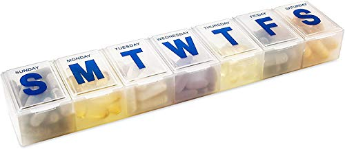 MEDca Weekly Pill Organizer, 7-Day Pill Planner Extra Large