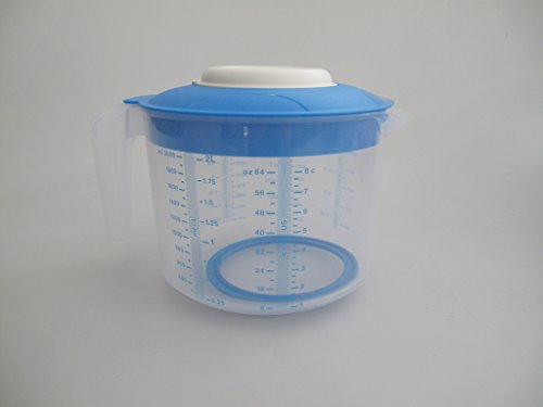 TUPPERWARE Backen Rühr-Mix Messbecher Candy 2,0L blau D216 Rührbecher Backhelfer 7561
