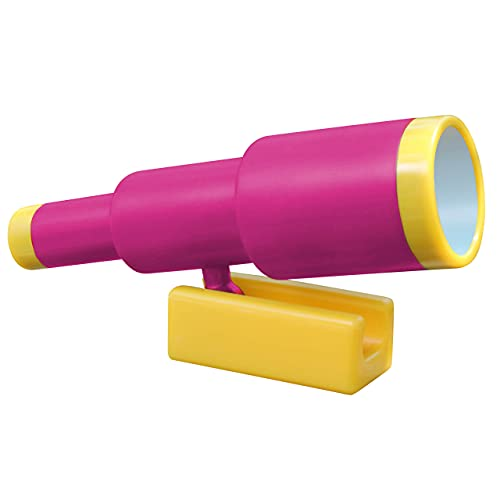 Jungle Gym Kingdom Playground Accessories - Pink Pirate Ship Telescope for Kids - Plastic Accressory for Outdoor Playhouse, Playset, Backyard Swing Set - Replacement Parts for Treehouse
