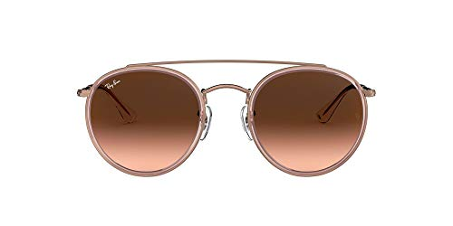 Ray-Ban 0RB3647N, Gafas de Sol Unisex Adulto, Rosa (Bronze Copper/Brown Gradient), 51