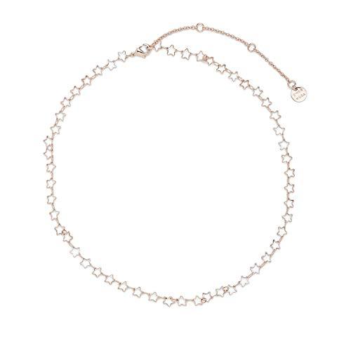 "Pura Vida 14"" Rose Gold Seeing Stars Choker Necklace - Brand Charm, 3"" Extender"