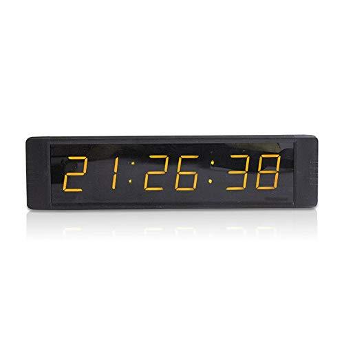 EVFIT Temporizador de Gimnasio Digital Inteligente Gran Pantalla LED Reloj de Pared con Mando a Distancia de Cuenta atrás del Temporizador de Control multifunción for Gimnasio de Deportes
