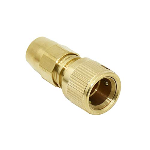 Conectores De Manguera Conector rápido de la manguera de la pistola de agua de 3/8 pulgadas de latón 8/11 Conector de manguera G1 / 2 G3 / 4 Ajuste de cobre 6set (Color : A)