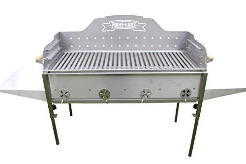 Profi-Grill PG 1000 Catering Basic, Gastrogrill Edelstahlgrill Holzkohlegrill Steckerlfisch Nirosta V2A