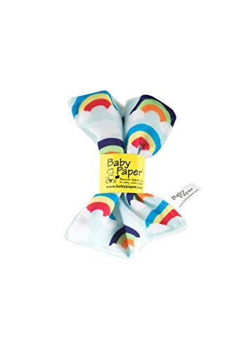 Baby Paper Original Crinkle Teether and Sensory Toy for Babies and Infants | Rainbows | Non-Toxic, Washable | The for Baby Showers