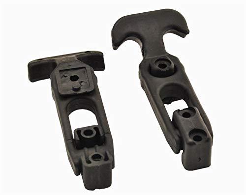 XIARUI 4 paquetes de cerradura de puerta con mango en T de goma flexible para caja de herramientas/refrigerador/carrito de golf/maquinaria agrícola, color negro duradero