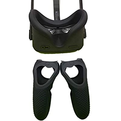 LICHIFIT Soft Anti-sweat Silicone VR Eye Mask Cover for Oculus Quest VR Headset Washable Anti-leakage Light Blocking Eye Cover Unisex