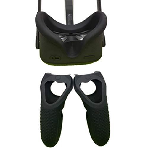 LICHIFIT Funda Protectora de Silicona Suave a Prueba de Sudor Cubierta de la manija Funda Protectora para Oculus Quest VR Headset y Controlador