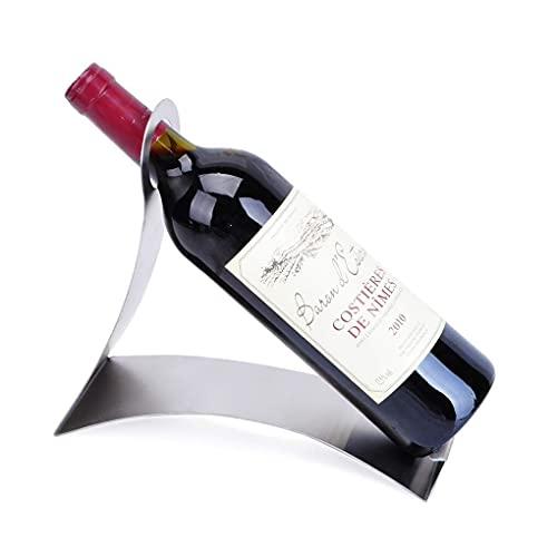 DAKEUR Estante para vinos en Forma de L, Acero Inoxidable, Estante para Botellas de Vino, Soporte de exhibición, Robusto Metal para Vino, Muebles, decoración, Manualidades, Adornos para el hogar y