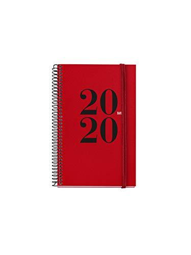 Miquel Rius 1, Agenda 2020, Semana Vista Horizontal, Castellano, 117 x 182 mm (SVH), Rojo