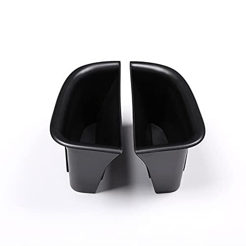 Tira Interior Coche 2 Piezas ABS Negro Manija De La Puerta del Coche Caja De Almacenamiento Contenedor Bandeja Accesorios Interiores del Coche para Volvo S90 V90 Coche Accesorios Decorativos