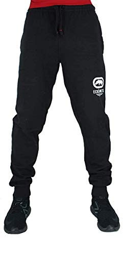 Ecko Hombre Algodón de Diseño Jogger Chándal Pantalones de Chándal, Negro, Azul, Gris - Negro, S