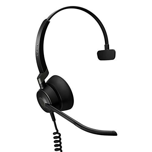Jabra Engage 50 - Auricular Digital monoaural on-Ear con Cable Certificado para Microsoft Teams - Cancelación pasiva de Ruido para softphones y Clientes Web - Cable USB-C - Negro