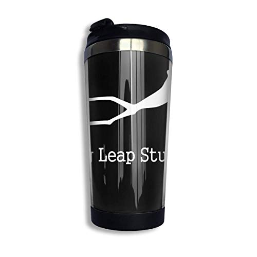 vfrtg Taza de viaje de vaso de acero inoxidable Frog Leap Studios Insulated Vacuum Stainless Steel Tumbler Cup 13.5oz Coffee Travel Mug