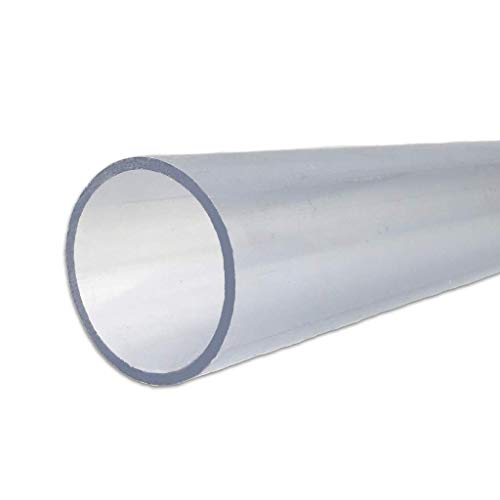 well2wellness® PVC Rohr 50mm PVC Druckrohr 50mm 10 bar transparent - 1 Meter