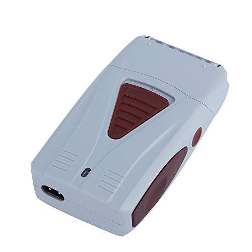 Elektrische tondeuse, oplaadbare veiligheidshaartrimmer voor mannen, geluidsarm, professioneel scheerapparaat met dubbele kop, voor mannen, kappers
