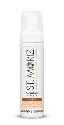 St. Moriz Self Tanning Self Tanning Mousse Color Medium (With Olive Milk and Vitamin E) 6.7 oz by St Moriz