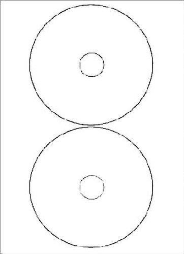 CD-Etiketten Durchmesser 117 mm Innenloch 41 mm 50 Blatt 100 Stück