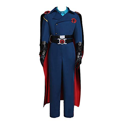 Cobra Commander Cosplay Costume with Cloak (XL) Blue