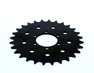 L-faster 28T Bicycle Fixed Sprocket for Brake Disc Mount Big Chain Wheel for Fixed Gear Bike 28 Tooth Sprocket for #410 Bicycle Chain (28T)