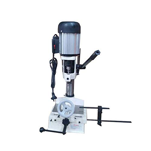 INTSUPERMAI Drill Press Bench Top Mortise Machine Mortising Machine with a Standard 3-jaw Type Key Chuck
