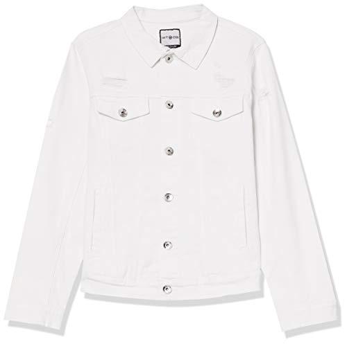 Denim Jackets Men's White Collar