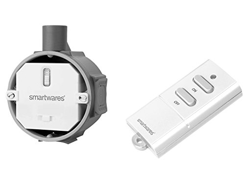 SmartHome Funk Schalter Set = Funk-Einbaudimmer + Funk-Fernbedienung für Leuchten bis max. 200W