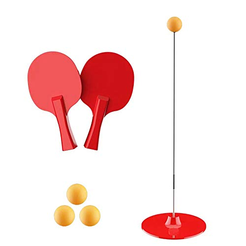 Save %56 Now! NAQIFU Rebound Table Tennis Trainer with Elastic Soft Shaft Practice Ball Training Pin...