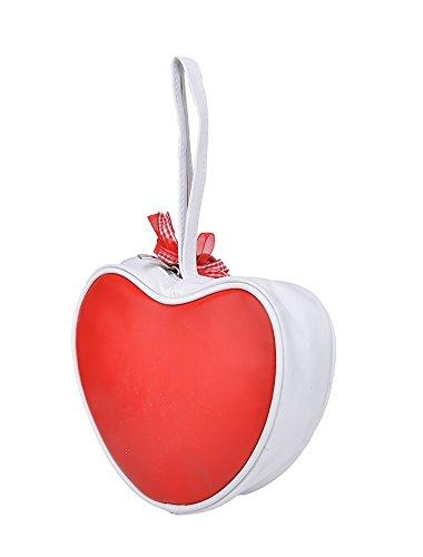 Cute KÜSTENLUDER Logo GINGHAM CHERRY Heart Bag – Rot Rockabilly KT299 - 4