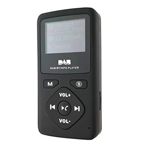 Pocket DAB-radio-ontvanger 1,5-inch LCD-scherm TF-kaart MP3-speler Bluetooth-muziekapparaat