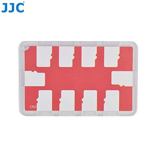 JJC Memory Card Case for 10x microSD Cards - Red Edition -...