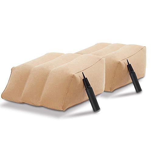 BOTOPRO - Oferta 2 uds. Leg Ramp, Almohada Hinchable para Reposo de Pies y Piernas. Incluye Inflador de Doble acción - Anunciado en TV