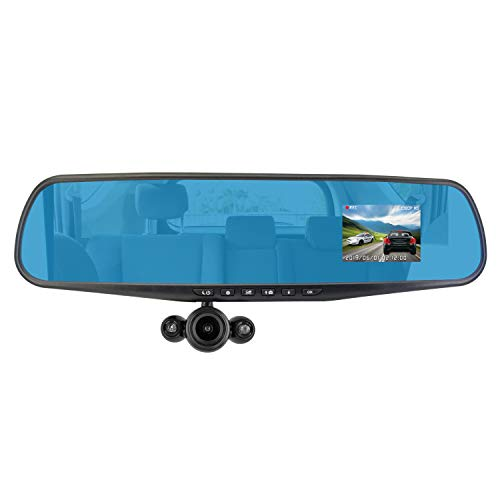 Official HD Mirror Cam (REAL 1080p High-Definition Dash Cam - 16GB Micro SD Card) As Seen on TV,...