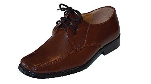 familientrends eleganter Jungenschuh viele Farben, Grössen Schuhe:21;Farbe:Braun