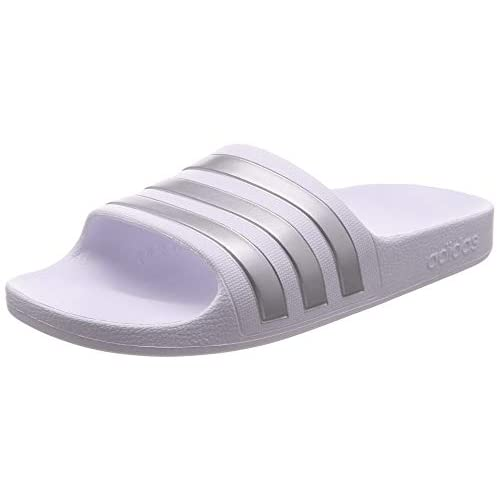 adidas Adilette Aqua K, Scarpe da Spiaggia e Piscina Unisex-Bambini, Bianco (White F35555), 36 EU