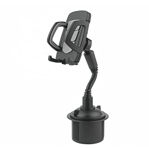 Porte-gobelet de téléphone de voiture Téléphone Support Voiture réglable Téléphone Holder Mont Gooseneck Coupe berceau pour téléphone portable noir, Poids léger, facile à transporter