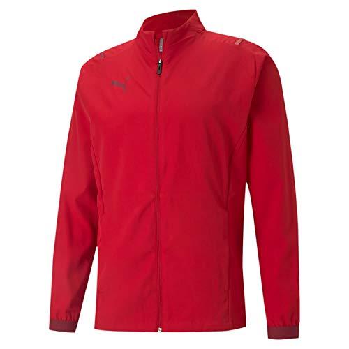 PUMA Teamcup Sideline Jacket Chaqueta De Entrenamiento, Hombre, Chili Pepper-Cordovan, S