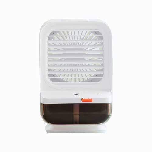 Ventole umidificanti per acqua ghiacciata portatile, 2 in 1, mini dispositivo di raffreddamento USB con aroma, condizionatore d'aria per casa, camera
