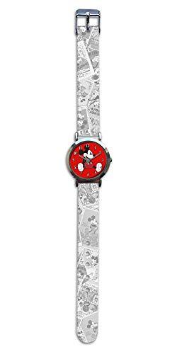 Mickey Mouse Reloj de Pulsera Aloy Correa Nylon de Mickey Classic (WD20177), Multicolor, Mediano (Kids Licensing 1)