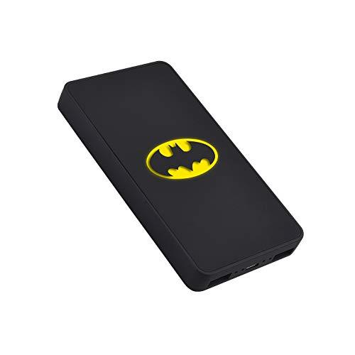 EMTEC Batterie externe 5000 mAh, Power Bank U900, Batterie de secours portable, 2 ports USB-A: 5V/2A , Micro-USB, Contrôle de charge et protection surchauffe,court-circuit, DC Comics Batman, Noir