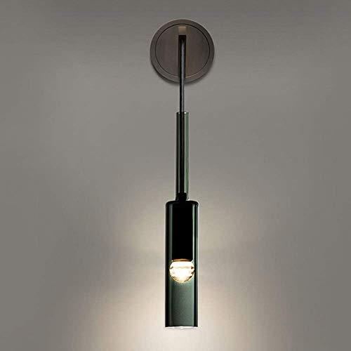 Mkjbd wandlamp, wandlamp, wandlamp, wandlamp, nachtlampje, koper, zwarte lampen, creatieve lampen, woonkamer, badkamerkastje, hanglamp, moderne kristallen wandlamp, 7 x 42 cm, lampen F