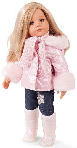 Götz 1959093 Hannah All Year Round Puppe - 50 cm große Stehpuppe, Blonde Haare, steingraue Augen - 16-teiliges Set