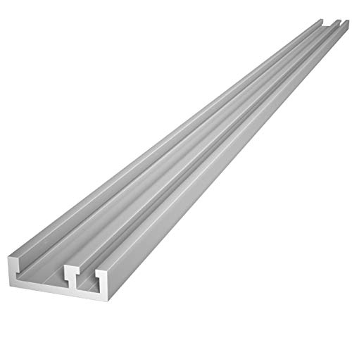 Anodized Aluminum Combination Miter T Track/Mini T Track Rail for Jigs Fixtures Sleds Router Table and General Woodworking Applications 48 Inch MADE IN THE USA