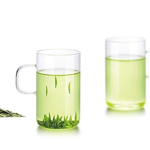 Friedos Tee Tasse klein 2er Pack 300ml Fassungsvermögen passend zu Teekannen - Teetasse aus Borosilikat Glas bis 130°C - 300ml Volumen 2 Stück