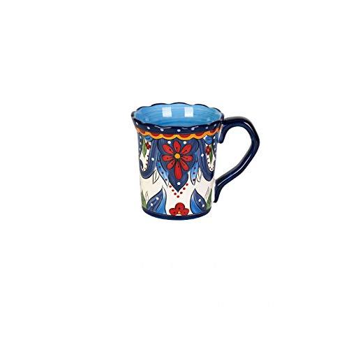 Taza de café 500 ml taza grande cerámica marca taza desayuno café leche té fruta jugo pareja taza bebida herramienta azul