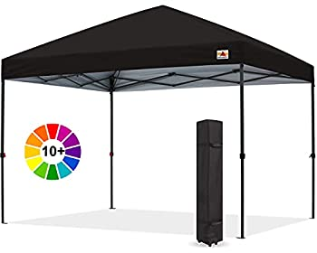 ABCCANOPY Durable Easy Pop up Canopy Tent 10x10 Black